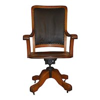 Oak Victorian Lawyers Judges Office Chair