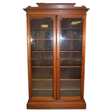 Tall Victorian Step Back China Cabinet Bookcase