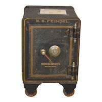 Victorian Cast Iron Safe with Combination