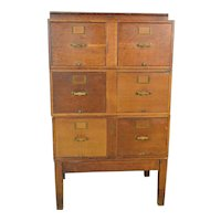 Oak Sectional File Cabinet by Library Bureau Sole Makers