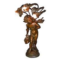 Art Nouveau Cupid Lamp