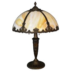 Antique Caramel Slag Table Lamp