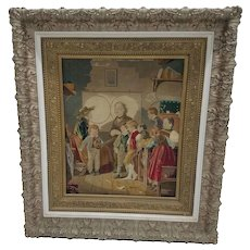 Victorian Framed Needlepoint Picture
