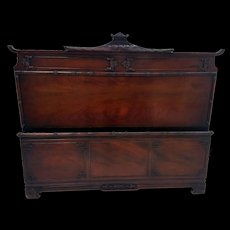 Mahogany Carved Bed Full Size