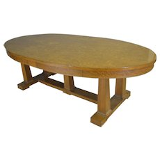 Tiger Sawn Oak Oval Conference Table – 8 FEET LONG!