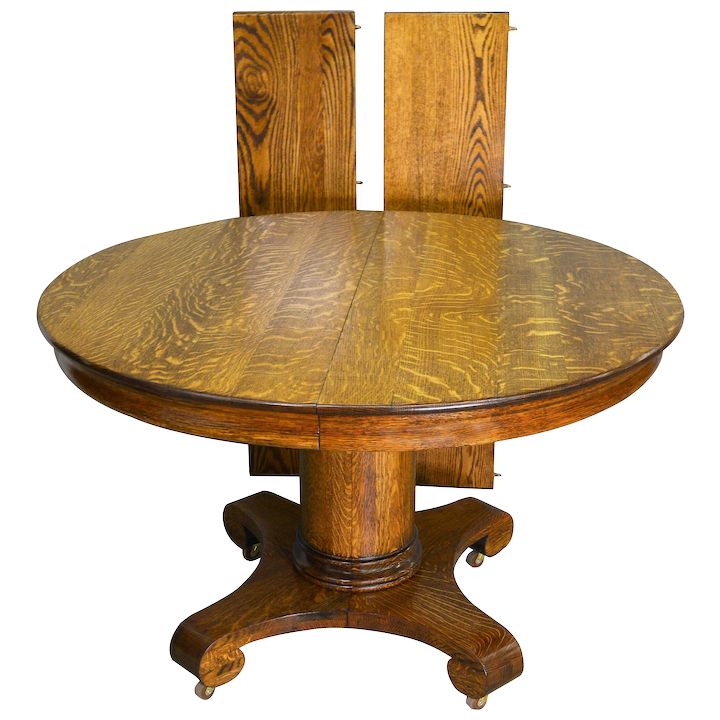 Antique Round Oak Empire Dining Table Maine Furniture Ruby Lane