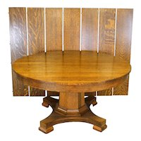 Victorian Oak Banquet Table – Opens Over 10 Feet