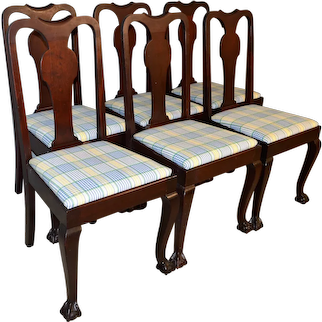 Set of 6 Mahogany Chippendale Ball and Claw Dining Chairs