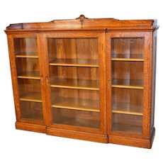 Oak Three Door Bookcase by Paine – Beautiful Wood