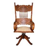 Victorian Oak Lawyers Office Chair by Larkin