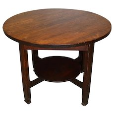 Mission Oak 40 Inch Round Table by Stickley