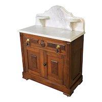 Victorian Marble Top Wash Stand High Back Splash
