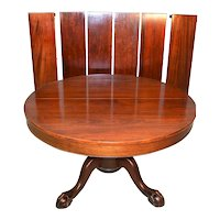 Mahogany Ball and Claw Banquet Table – 6 Leaves