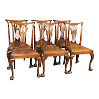 Set of 6 Mahogany Ball and Claw Formal Dining Chairs