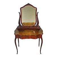 Mahogany Ladies Bevel Glass Vanity with Mirror