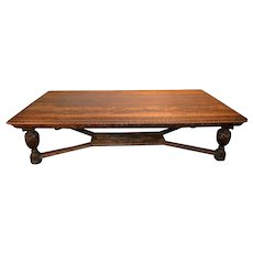 Unbelievable Heavily Carved Oak Conference Table – 10 Feet Long!!