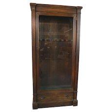 Oak Glass Door Gun Cabinet