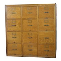 Twelve Drawer Oak File Cabinet by Library Bureau of Congress