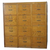 Twelve Drawer Oak File Cabinet by Library Bureau of Congress