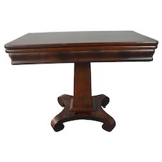 Flame Mahogany Empire Civil War Era Game Table