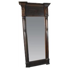 Period Large Sheraton Wall Mirror