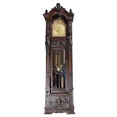 R.J. Horner Carved Grandfather Clock