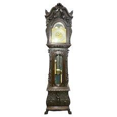 Oak Carved Horner Tiffany-Durfee Grandfather Clock