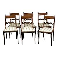 Set of 6 Period Regency Dining Chairs