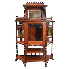 Victorian Cherry Display Cabinet / Etagere