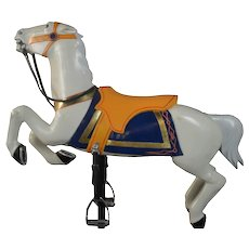 Carved and Painted Herschell-Spillman Carousel Horse on Stand