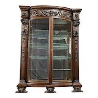 Carved Oak China Cabinet- R.J. Horner