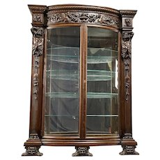 Carved Oak China Cabinet- R.J. Horner