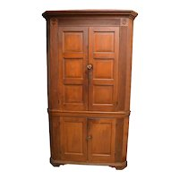 Period Pennsylvania Chippendale Corner Cupboard