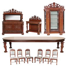 R.J. Horner 10 Pc. Mahogany Dining Set