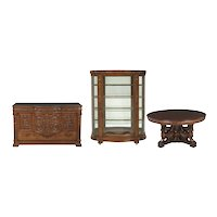 American Late Victorian Three-Piece Mahogany Dining Suite/ Horner