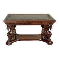 Mahogany Winged Griffin Library Table-Horner