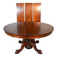 Mahogany Victorian Ball and Claw Carved Dining Table