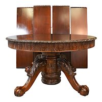 Round Mahogany Carved Banquet Table – 13 FEET!!!!
