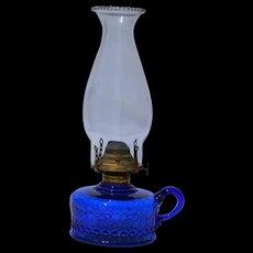 Blue Oil Victorian Finger Lamp