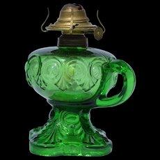 Green Bulls Eye Finger Stem Lamp