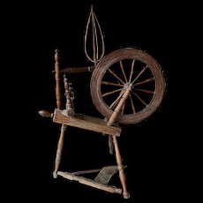 Primitive Period Country Flax wheel