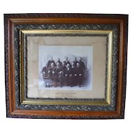 Victorian Oak Carved Frame with Somerset Jury