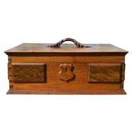 Walnut Custom Victorian Carved Jewelry Box
