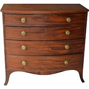 Hepplewhite Period Bow Front Country Chest