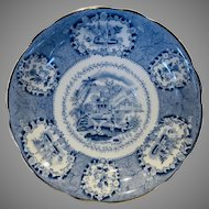 Vintage Beautiful Ridgway, Oriental, Saucer Plate With Gold Trim 5 7/8 Inches