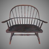 Vintage Child or Doll Spindle back Windsor Arm Chair or Bench Chair Quality Construction