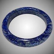 Vintage Natural Hand Carved Natural Blue Lapis Bangle 90 Grams Wonderful