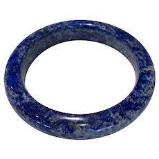 Vintage Natural Hand Carved Natural Blue Lapis Bangle 90 Grams Wonderful