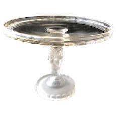 """EAPG THREE FACE Pattern Pedestal 9"""" Cake Stand or Cake Plate George Duncan & Son"""