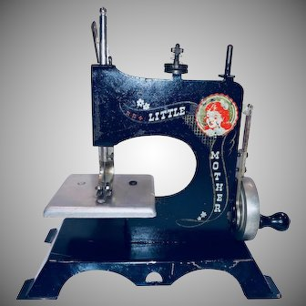 Vintage Little Mother Toy Child Sewing Machine By Artcraft Products of West Haven Conn